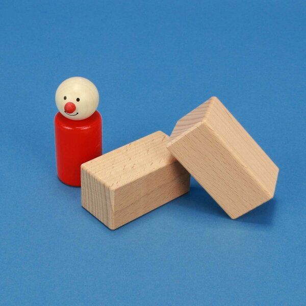 Holzbauklötze Quader 6 x 3 x 3 cm