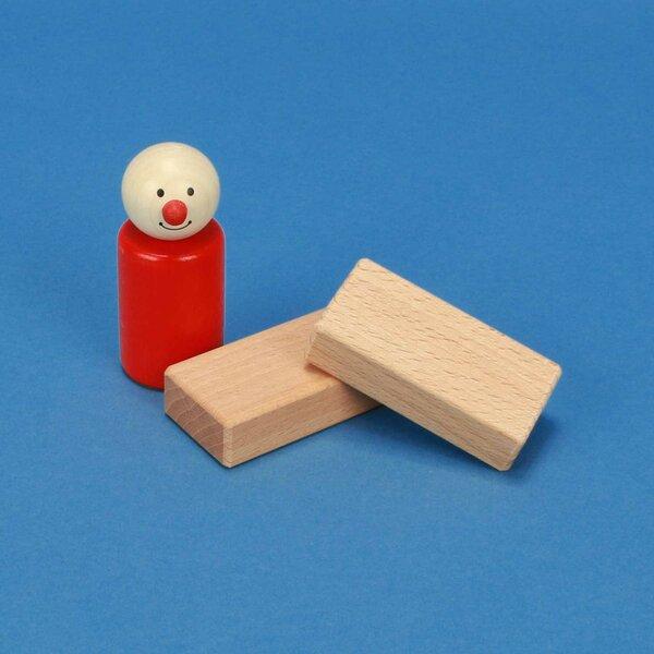 Holzbauklötze natur 6 x 3 x 1,5 cm