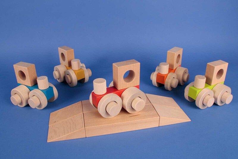 Holzbausteine vom Tischlerschuppen